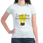 Save the Incandescents Jr. Ringer T-Shirt