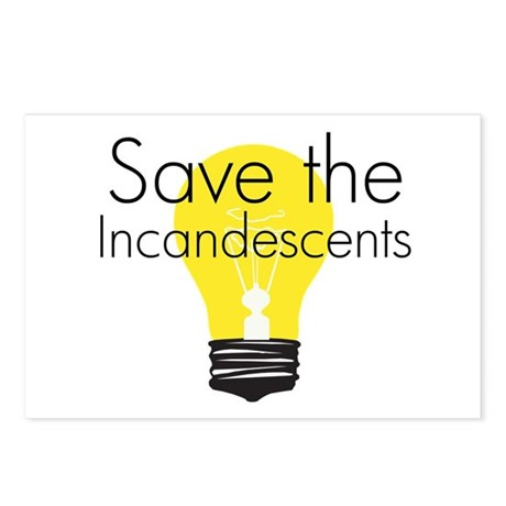 Save the Incandescents Postcards (Package of 8)