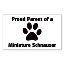 Miniature Schnauzer Rectangle Decal
