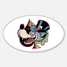 Lobo Von Lucky Oval Decal