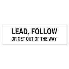 Lead Bumper Bumper Sticker