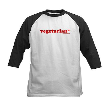 vegetarian Kids Baseball Jersey