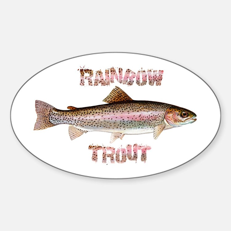 Rainbow Trout Oval Decal