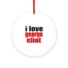 George Eliot Ornament (Round)