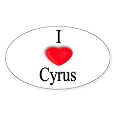 Cyrus Oval Decal