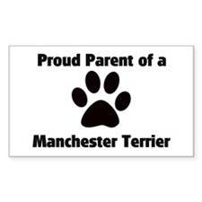 Manchester Terrier Rectangle Decal