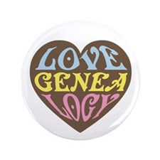 """Groovy Love I 3.5"""" Button"""