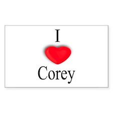 Corey Rectangle Decal