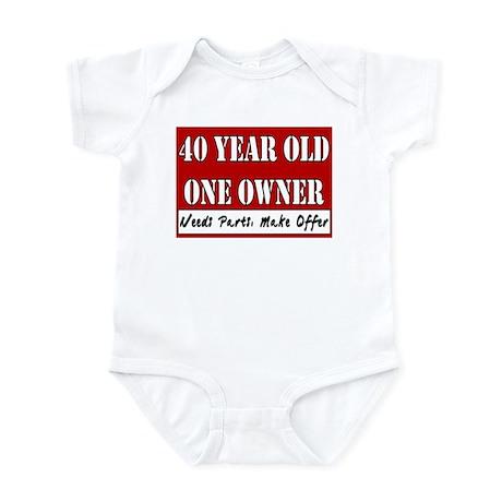 40th Birthday Infant Bodysuit