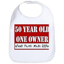 50th Birthday Bib