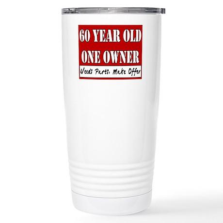 60th Birthday Stainless Steel Travel Mug