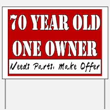 70th Birthday Yard Sign
