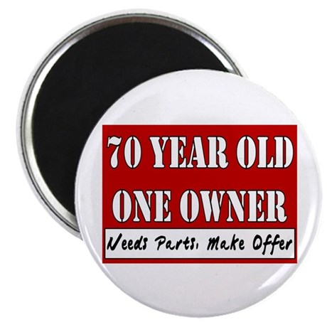 "70th Birthday 2.25"" Magnet (100 pack)"