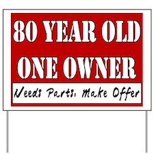 80th Birthday Yard Sign