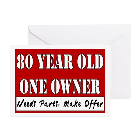 80th Birthday Greeting Cards (Pk of 10)