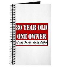 80th Birthday Journal