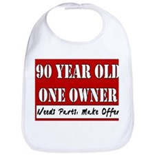 90th Birthday Bib