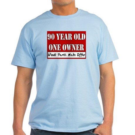 90th Birthday Light T-Shirt