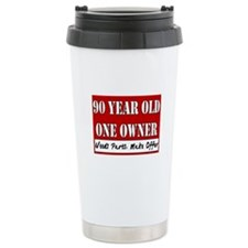 90th Birthday Travel Mug