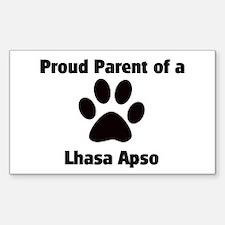 Proud: Lhasa Apso Rectangle Decal