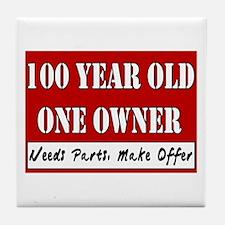 100th Birthday Tile Coaster