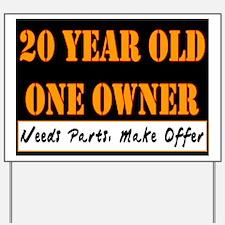 20th Birthday Yard Sign