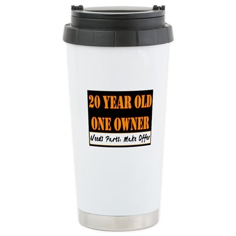 20th Birthday Stainless Steel Travel Mug