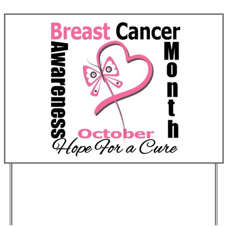 SupportBreastCancerMonth Yard Sign
