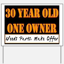 30th Birthday Yard Sign