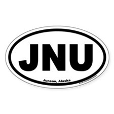 Juneau Alaska JNU Euro Oval Decal