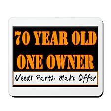 70th Birthday Mousepad