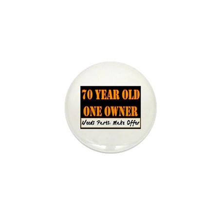 70th Birthday Mini Button (100 pack)