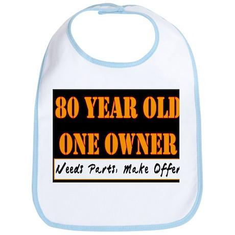 80th Birthday Bib