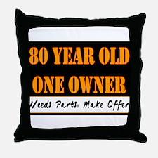 80th Birthday Throw Pillow