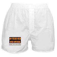80th Birthday Boxer Shorts