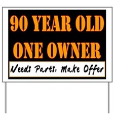 90th Birthday Yard Sign