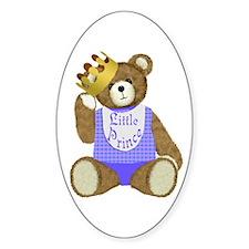 Little Prince Teddy Bear Oval Decal