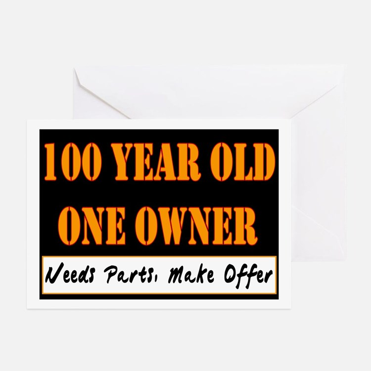 100th Birthday Greeting Cards (Pk of 10)