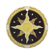 Unique Brooches and pins Ornament (Round)