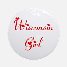 Wisconsin Girl Ornament (Round)