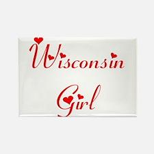 Wisconsin Girl Rectangle Magnet
