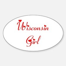 Wisconsin Girl Oval Decal