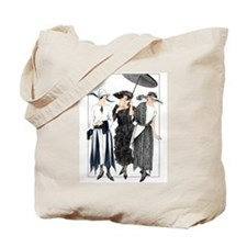 Three Fashionable Mademoiselles Tote Bag