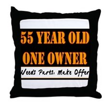 55th Birthday Throw Pillow