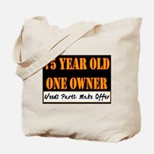 75th Birthday Tote Bag