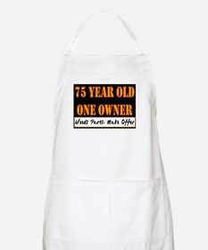75th Birthday BBQ Apron