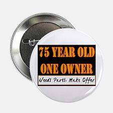 """75th Birthday 2.25"""" Button"""