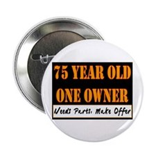 "75th Birthday 2.25"" Button (10 pack)"