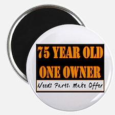 75th Birthday Magnet
