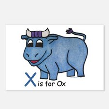 X is for Ox Postcards (Package of 8)